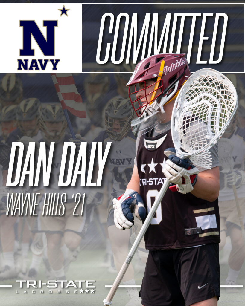 Navy Naval Academy US United State Dan Daly Tri-State Lacrosse Wayne Hills New Jersey Lacrosse
