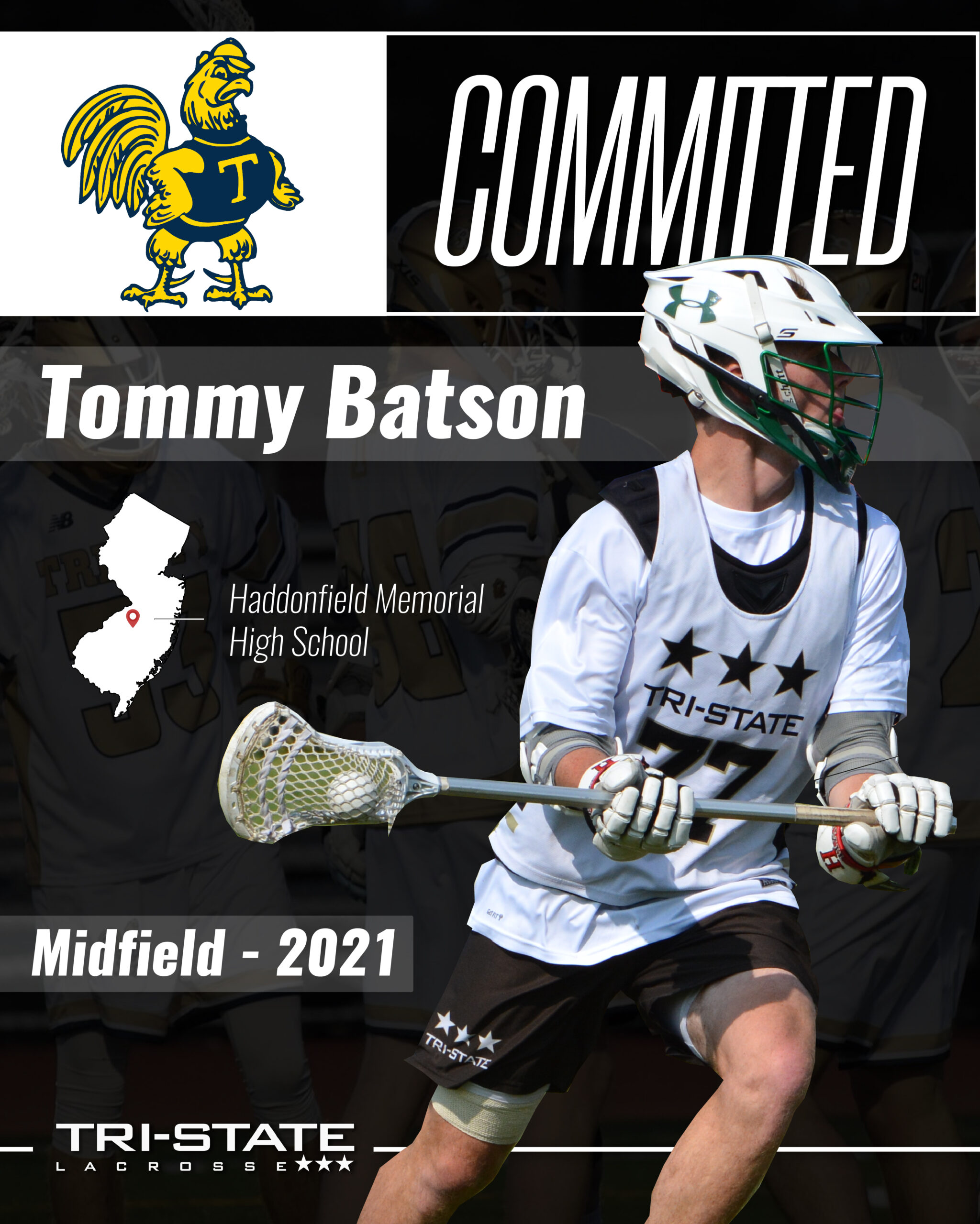 Tommy Batson - Haddonfield - Trinity College Football and Lacrosse